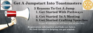 Jumpstart to Toastmasters graphic
